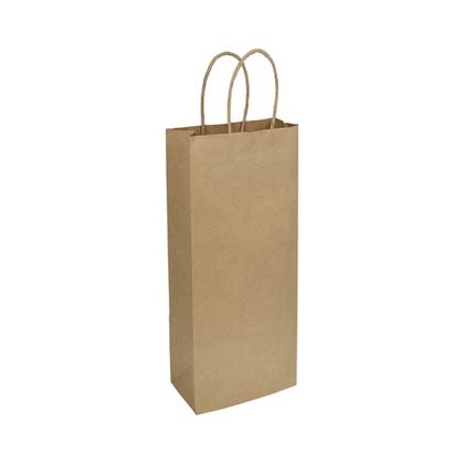 Kraft Paper Shoppers Wine, 5 1/4 x 3 1/2 x 13