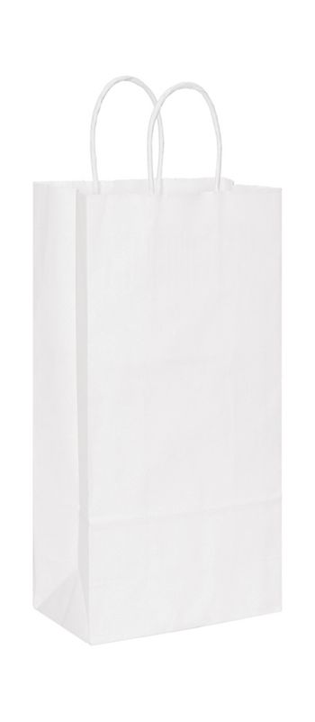 White Paper Shoppers Double Wine, 6 1/2 x 3 1/2 x 13