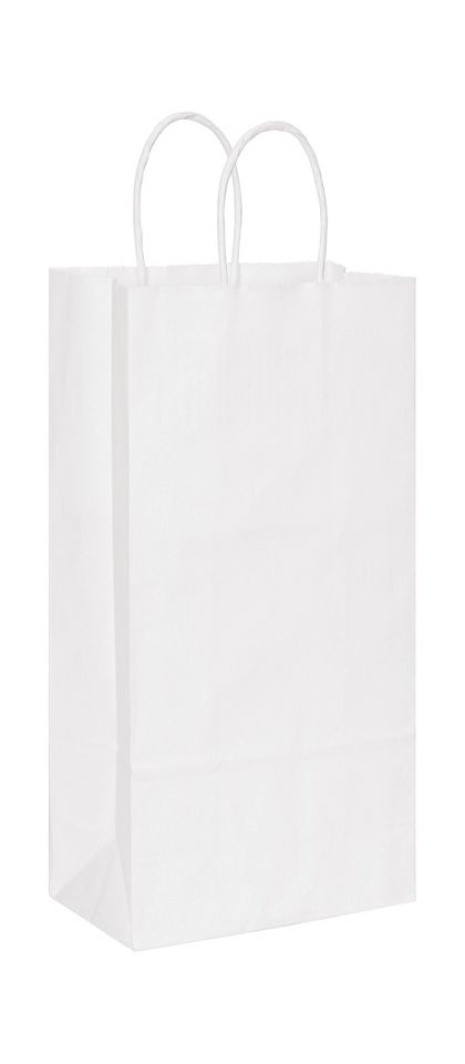 White Paper Shoppers Double Wine, 6 1/2 x 3 1/2 x 13""