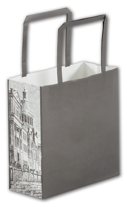 """Gray District Square Shoppers, 7 x 3 x 7"""""""
