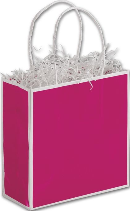 Fillmore Fuchsia Shoppers, 7 x 3 x 7""