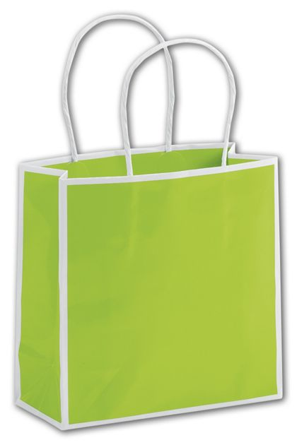 """Lombard Lime Shoppers, 7 x 3 x 7"""""""