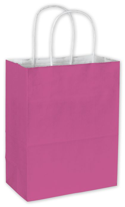 Hot Pink Cotton Candy Shoppers, 8 1/4 x 4 3/4 x 10 1/2""