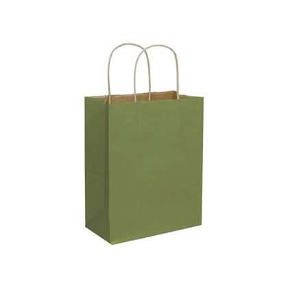 Rainforest Green Color-on-Kraft Shoppers