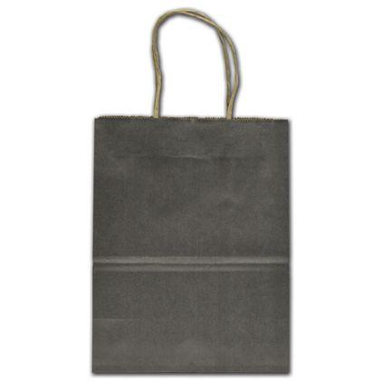 "Anthracite Metallic Tinted Shoppers, 8 1/4x4 3/4x10 1/2"""