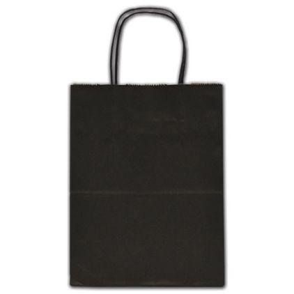 "Black Color-on-Kraft Shoppers, 8 1/4 x 4 3/4 x 10 1/2"""