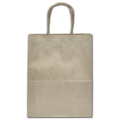 """Champagne Metallic Tinted Shoppers, 8 1/4x4 3/4x10 1/2"""""""