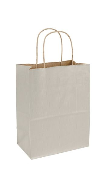 Ash Varnish Stripe Shoppers, 8 1/4 x 4 3/4 x 10 1/2
