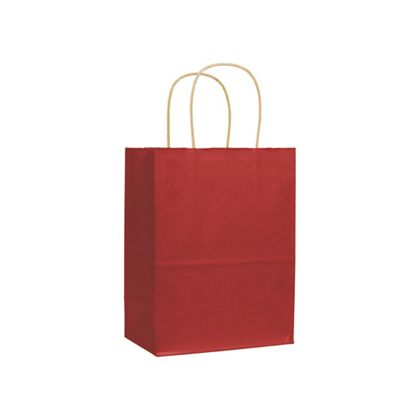 Red Varnish Stripe Shoppers, 8 1/4 x 4 3/4 x 10 1/2