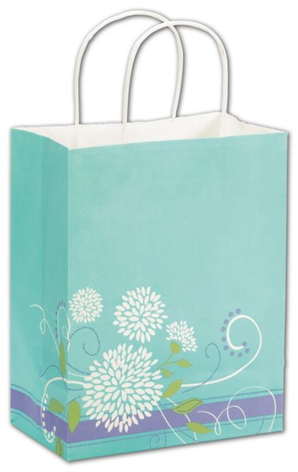 Spring Bouquet Shoppers, 8 1/4 x 4 3/4 x 10 1/2""