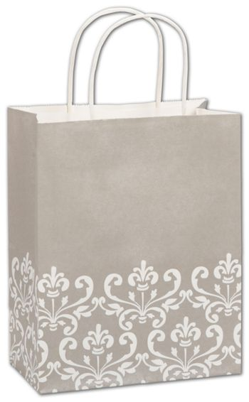 Champagne Chic Shoppers, 8 1/4 x 4 3/4 x 10 1/2