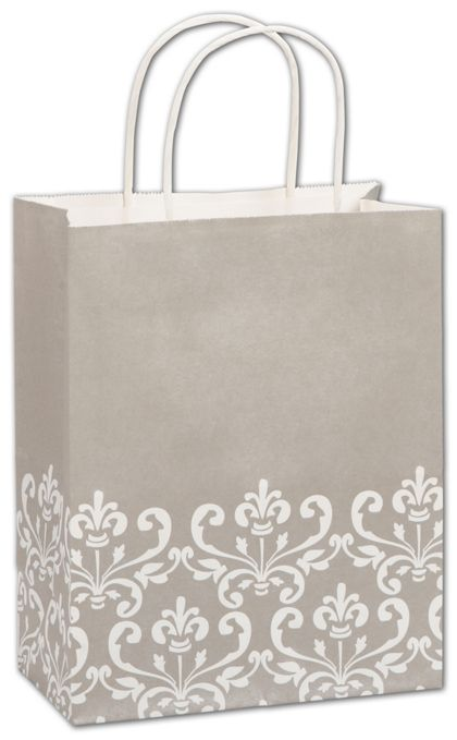 Champagne Chic Shoppers, 8 1/4 x 4 3/4 x 10 1/2""