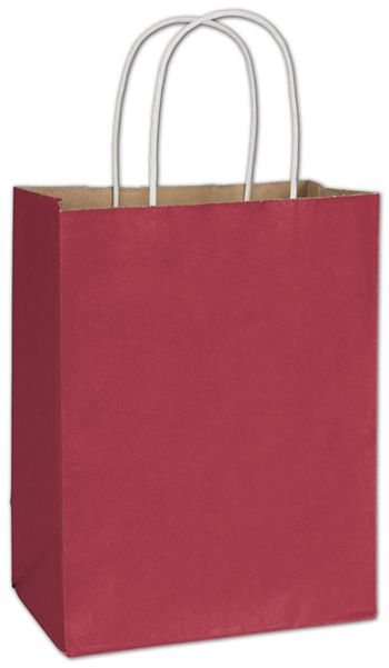 Crimson Radiant Shoppers, 8 1/4 x 4 3/4 x 10 1/2