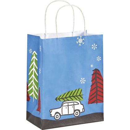 """Christmas Vacation Shoppers, 8 1/4 x 4 3/4 x 10 1/2"""""""