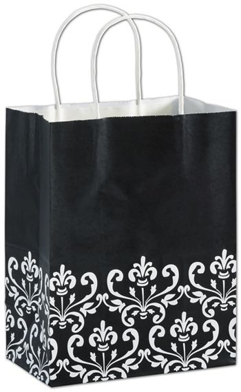 Ebony Chic Shoppers, 8 1/4 x 4 3/4 x 10 1/2