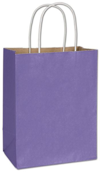 Electric Violet Radiant Shoppers, 8 1/4 x 4 3/4 x 10 1/2