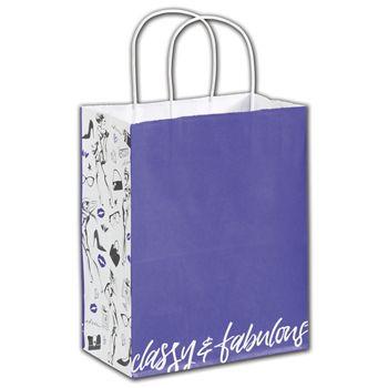 Classy & Fabulous Shoppers, 8 1/4 x 4 3/4 x 10 1/2