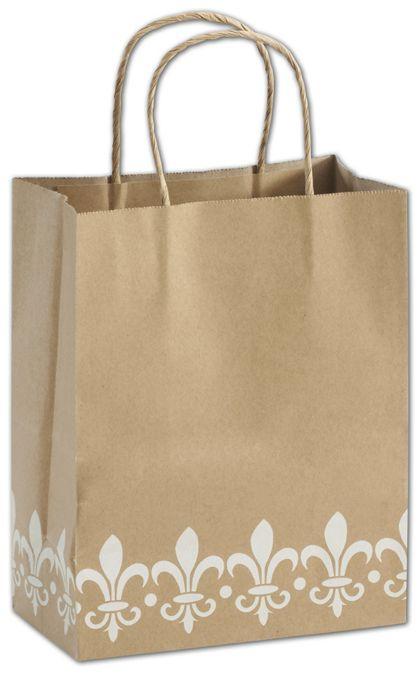"""Fleur-De-Lis Shoppers, 8 1/4 x 4 3/4 x 10 1/2"""""""