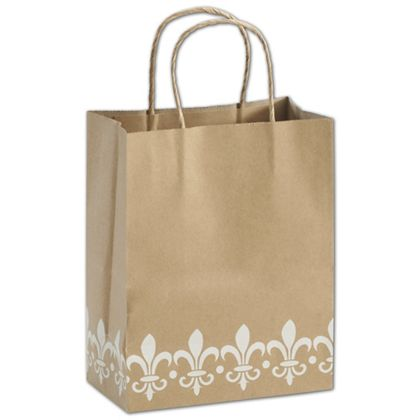 Fleur-De-Lis Shoppers, 8 1/4 x 4 3/4 x 10 1/2