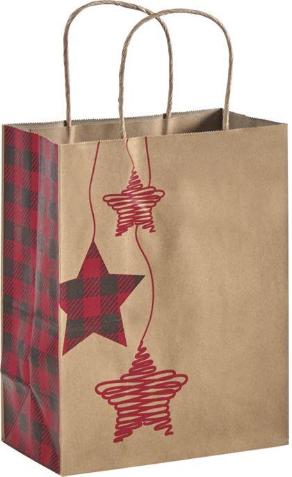 "Festive Flannel Shoppers, 8 1/4 x 4 3/4 x 10 1/2"""
