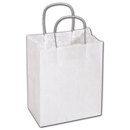"Snow Flurry Shoppers, 8 1/4 x 4 3/4 x 10 1/2"""