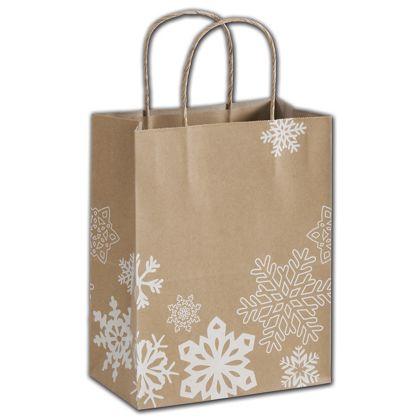 "Snow Wonder Shoppers, 8 1/4 x 4 3/4 x 10 1/2"""