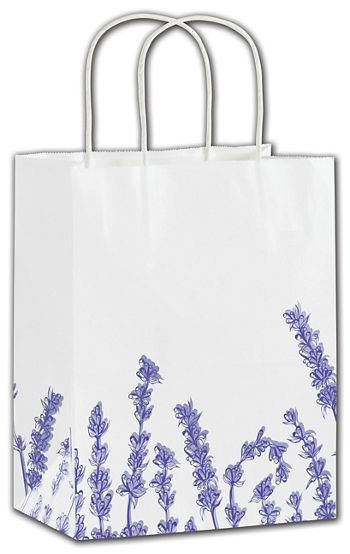Lavender Shoppers, 8 1/4 x 4 3/4 x 10 1/2