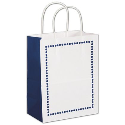 """Madison Navy Shoppers, 8 1/4 x 4 3/4 x 10 1/2"""""""