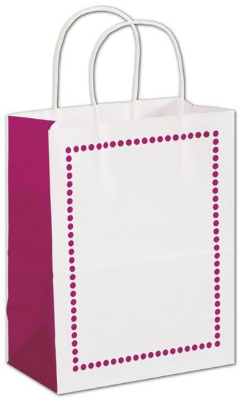 Madison Raspberry Shoppers, 8 1/4 x 4 3/4 x 10 1/2