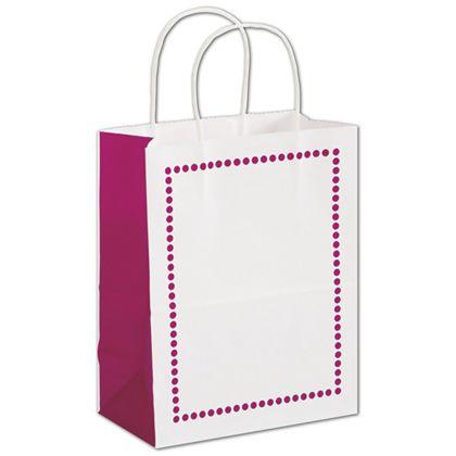 "Madison Raspberry Shoppers, 8 1/4 x 4 3/4 x 10 1/2"""