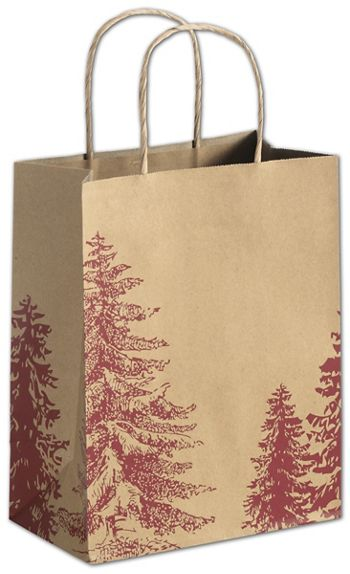 A Pine Day Shoppers, 8 1/4 x 4 3/4 x 10 1/2