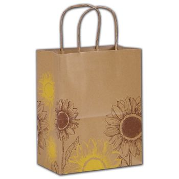Sunflower Shoppers, 8 1/4 x 4 3/4 x 10 1/2""