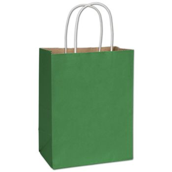 Spruce Green Radiant Shoppers, 8 1/4 x 4 3/4 x 10 1/2