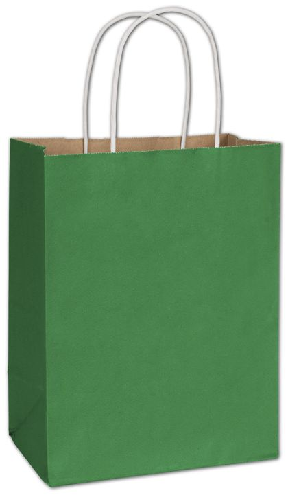 Spruce Green Radiant Shoppers, 8 1/4 x 4 3/4 x 10 1/2""