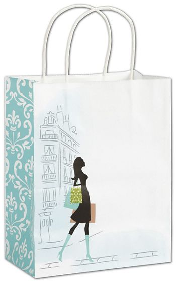 Chic Shoppers, 8 1/4 x 4 3/4 x 10 1/2