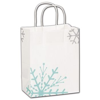 Snowflake Shoppers, 8 1/4 x 4 3/4 x 10 1/2