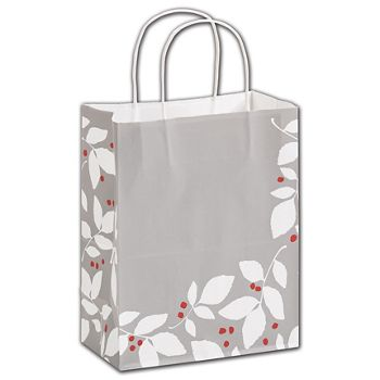 Silver Splendor Shoppers, 8 1/4 x 4 3/4 x 10 1/2