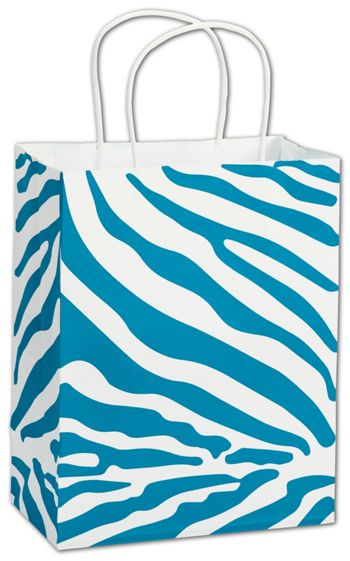 The Wild Side Turquoise Shoppers, 8 1/4 x 4 3/4 x 10 1/2
