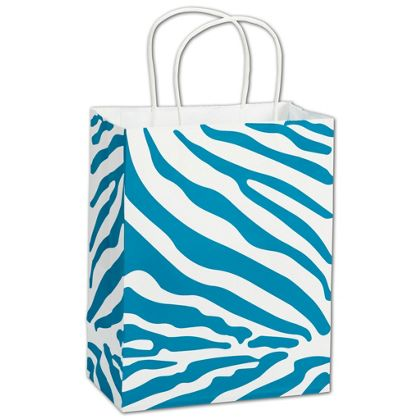 """The Wild Side Turquoise Shoppers, 8 1/4 x 4 3/4 x 10 1/2"""""""