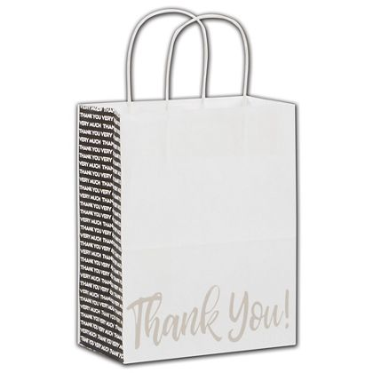"""Many Thanks Shoppers, 8 1/4 x 4 3/4 x 10 1/2"""""""