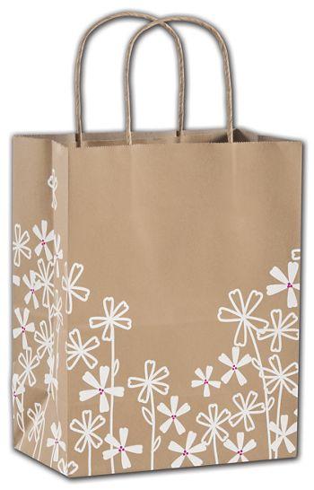Wildflower Shoppers, 8 1/4 x 4 3/4 x 10 1/2