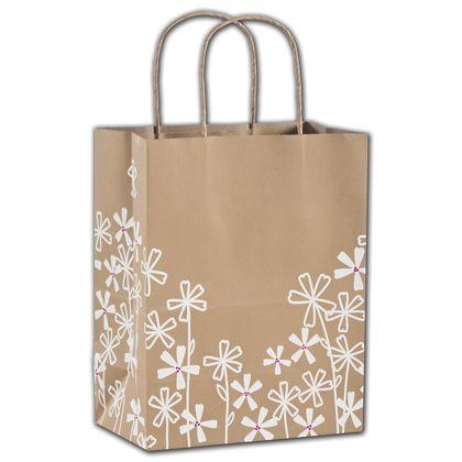 """Wildflower Shoppers, 8 1/4 x 4 3/4 x 10 1/2"""""""
