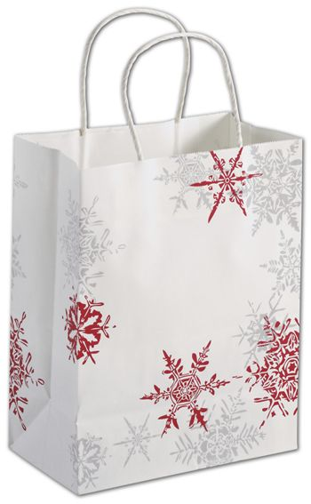 Snowflake Wishes Shoppers, 8 1/4 x 4 3/4 x 10 1/2
