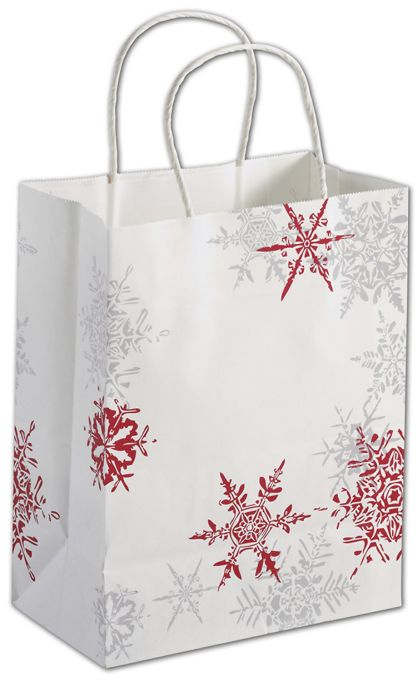 Snowflake Wishes Shoppers, 8 1/4 x 4 3/4 x 10 1/2""
