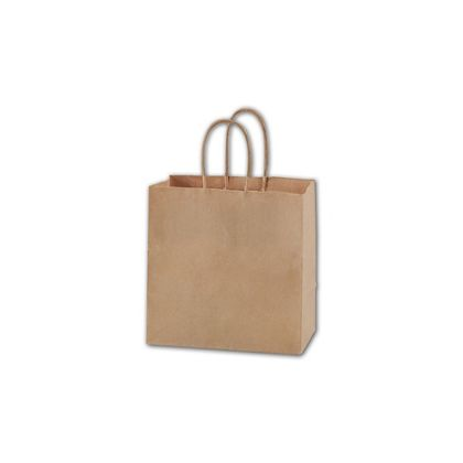 Kraft Paper Shoppers Ruby, 8 x 5 x 8