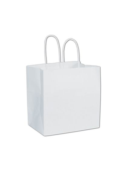 White Paper Shoppers Ruby, 8 x 5 x 8""