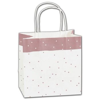 Rose Dots Shoppers, 8 x 5 x 8