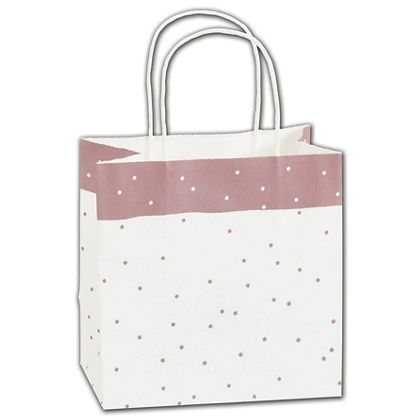 Rose Dots Shoppers, 8 x 5 x 8""
