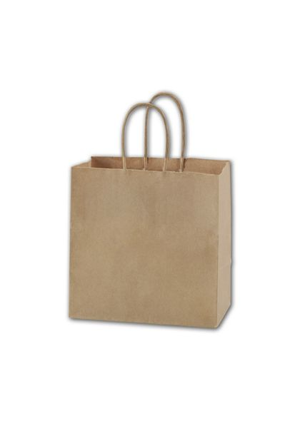 """Recycled Kraft Paper Shoppers Ruby, 8 x 5 x 8"""""""