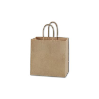 Recycled Kraft Paper Shoppers Ruby, 8 x 5 x 8